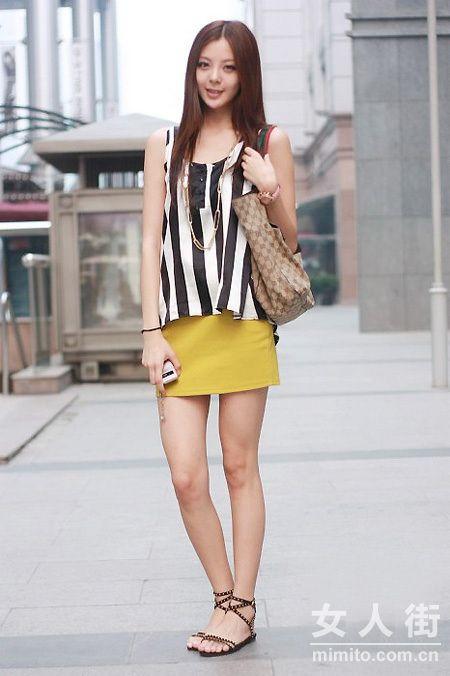 夏日上海街头抓拍 美女时尚潮搭集